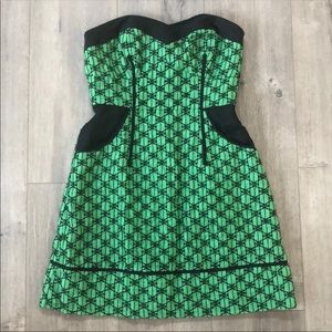 Tracy Reese Frock Green Strapless Dress